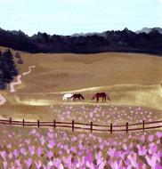 crocuses and horses